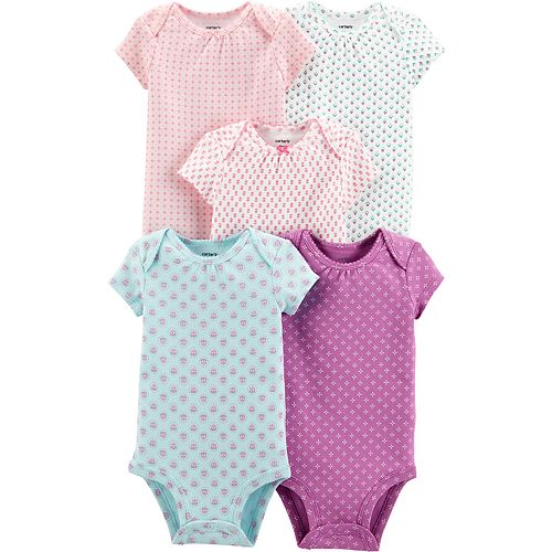Baby Girl Carter's 5-pack Floral Original Bodysuits