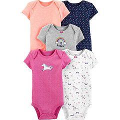 Baby Girl Carter's 5-pack Unicorn Original Bodysuits