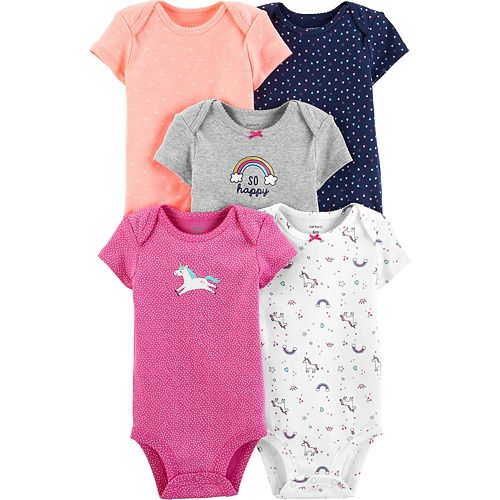Baby Girl Carter's 5-pack Unicorn Original Bodysuits
