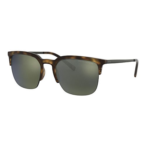 Men's Armani Exchange Forever Young AX4081 54mm Round Mirrored Sunglasses