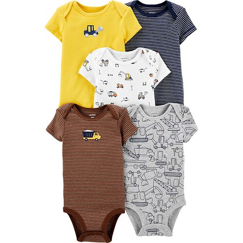 Baby Boy Carter's 5-pack Construction Original Bodysuits