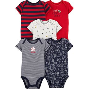 Baby Boy Carter's 5-pack Sports Original Bodysuits