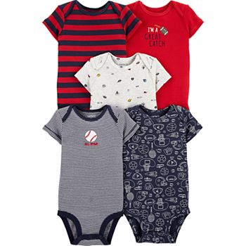 Baby Boy Carter's 5-pack Sports Original Bodysuits