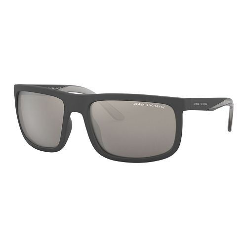 Men's Armani Exchange Urban Attitude AX4084S 60mm Rectangle Mirrored Sunglasses