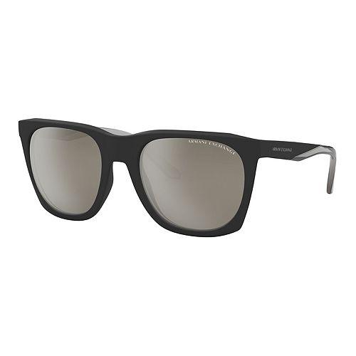 Men's Armani Exchange Urban Attitude AX4085S 56mm Square Mirrored Sunglasses