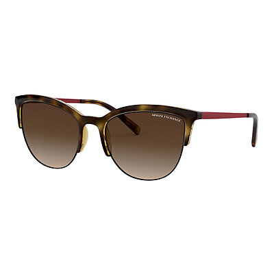 Women's Armani Exchange Forever Young AX4083S 54mm Round Gradient Sunglasses