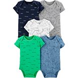 Baby Boy Carter's 5-pack Airplane Original Bodysuits