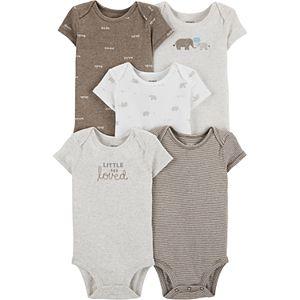 Baby Carter's 5-pack Elephant Original Bodysuits