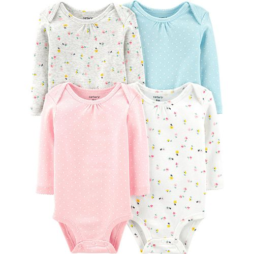 Baby Girl Carter's 4-pack Floral Original Bodysuits