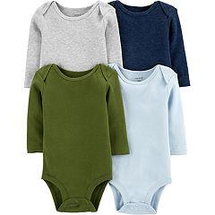 Baby Boy Carter's 4-pack Long-Sleeve Original Bodysuits