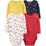 Baby Boy Carter's 4-Pack Long-Sleeve Original Bodysuits
