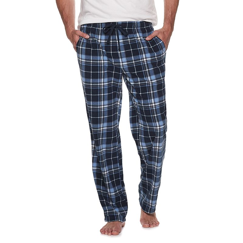 Big & Tall Croft & Barrow Patterned Microfleece Sleep Pants. Men's. Size: Large Tall. Dark Blue