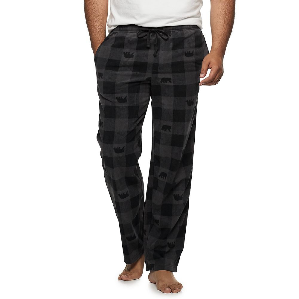Big & Tall Croft & Barrow® Patterned Microfleece Sleep Pants