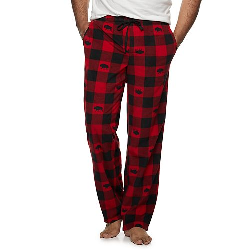 Big & Tall Croft & Barrow® Patterned Microfleece Sleep Pants
