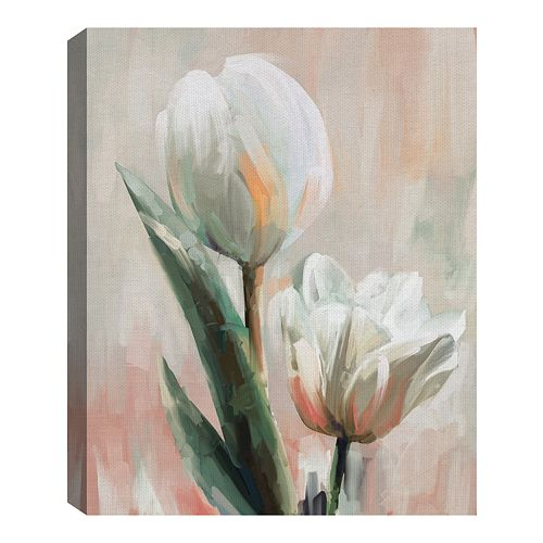 FINE ART CANVAS Tulip Duets II by Studio Arts Wrapped Canvas Art Print