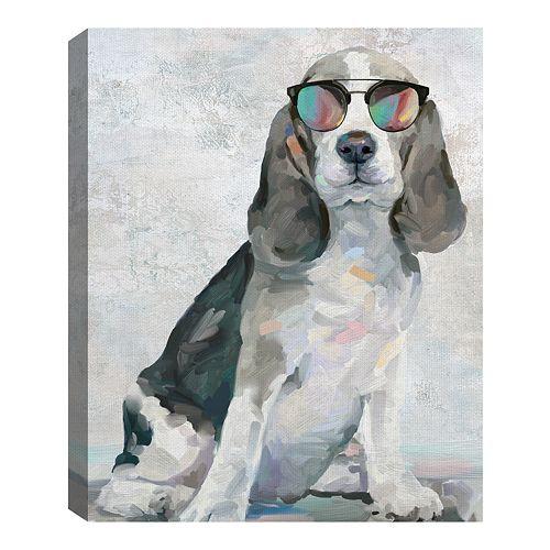 Fine Art Canvas Shady Pups IV by Artist Studio Arts
