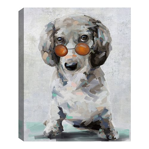 Fine Art Canvas Shady Pups II by Studio Arts