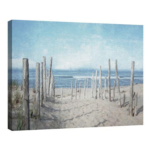 Fine Art Canvas Seashore Vista Light by Artist Graffi-tee Studios