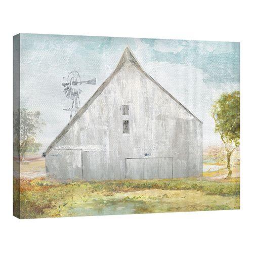 Fine Art Canvas Big Gray Barn by Artist Willowbrook Fine Art
