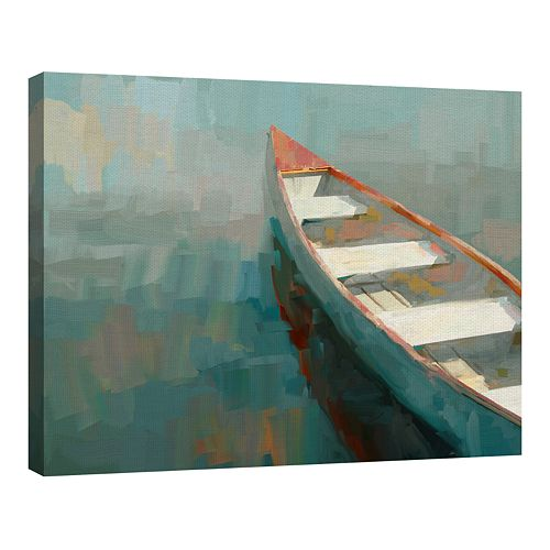 Fine Art Canvas Coral Canoe I by Artist Studio Arts