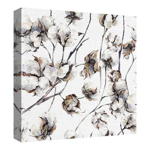 Fine Art Canvas Cotton Blossoms by Artist Belle Maison