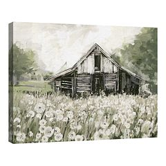 Tradmemark Fine Art Canvas Art Dandelion Barn by Studio Arts
