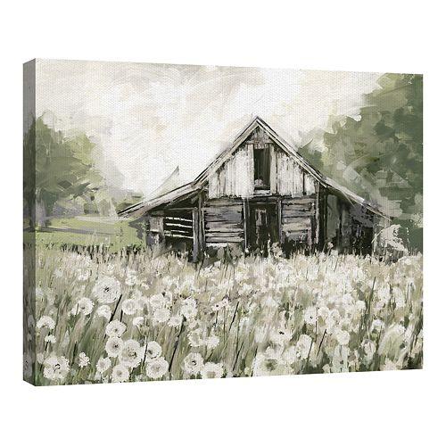Fine Art Canvas Art Dandelion Barn by Studio Arts