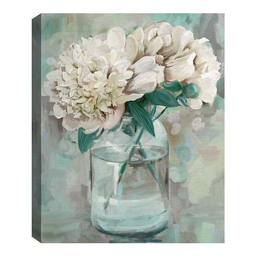 Fine Art Canvas Farmhouse Peonies I by Studio Arts Wall Art