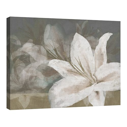 Trade Mark Fine Art Floating Flowers Natural by Noah Bay Canvas Art