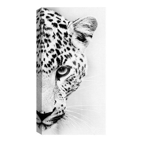 Fine Art Canvas Leopard Crop by Belle Maison Photo Wall Art