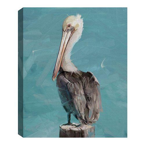 Fine Art Canvas Pelican Perch II by Studio Arts Wall Art