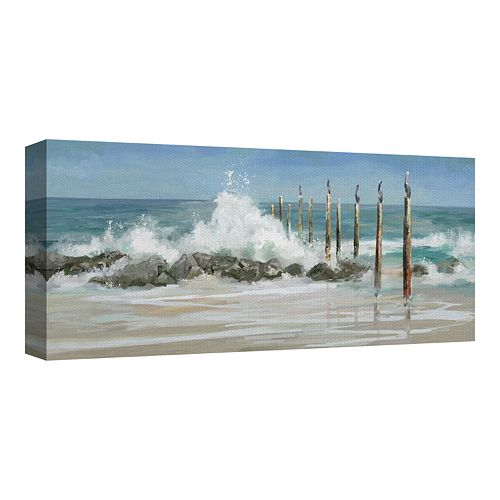 Fine Art Canvas Perched by the Sea by Studio Arts Wall Art