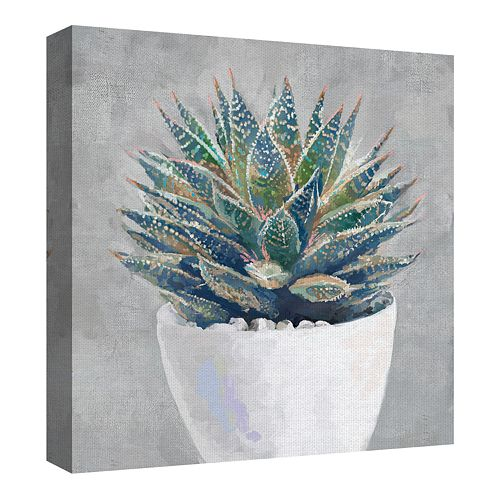 Fine Art Canvas Potted Succulent I by Studio Arts Wall Art