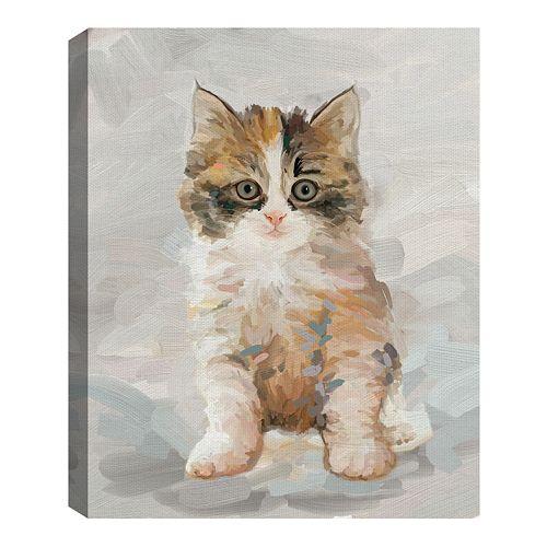 Fine Art Canvas Pretty Kitty II by Studio Arts Wall Art