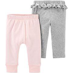 de735d4d676e0 Baby Girls Carter's 2-pack Cotton Pants