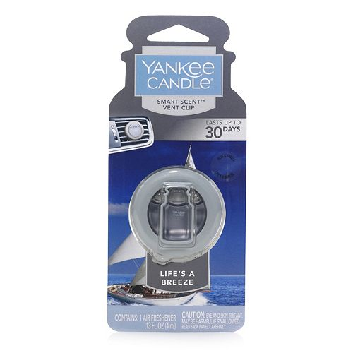 Yankee Candle Smart Scent Life's a Breeze Car Air Freshener Vent Clip