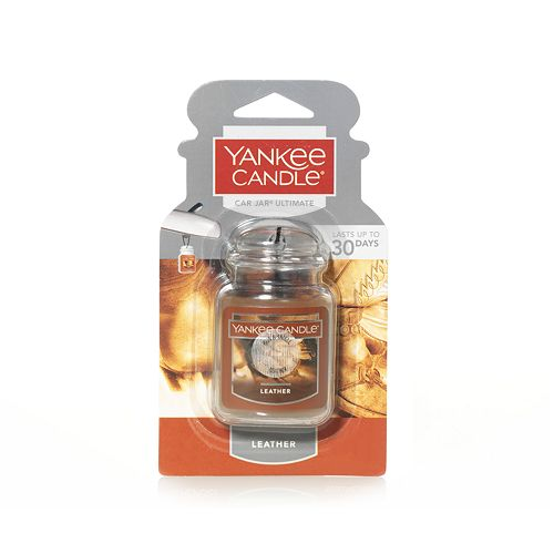 Yankee Candle Ultimate Car Jar Leather Air Freshener