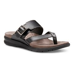 cff335bc62 Eastland Cherish Women's Thong Sandals. Brown Black. sale