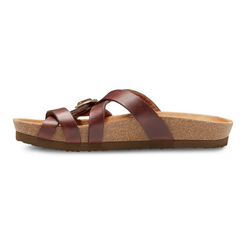 Eastland Sable Women's Strap & Buckle Thong Sandals