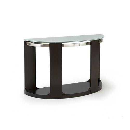 Steve Silver Co. Croften Cracked Glass Sofa Table