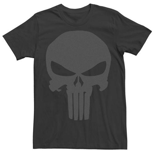 Men's Marvel Punisher Black Graphic Tee