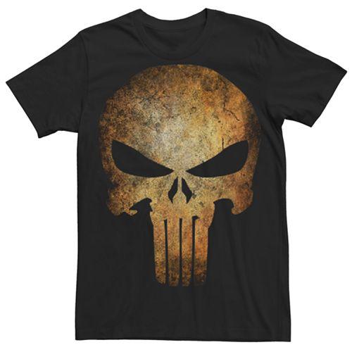 Men's Punisher Real Skull Graphic Tee