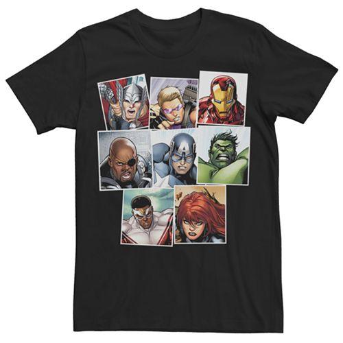 Men's Marvel Avengers Squares Graphic Tee