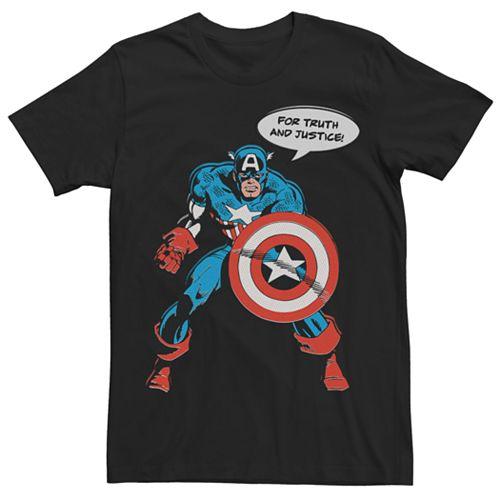 Men's Marvel Captain America Vintage Shield Graphic Tee