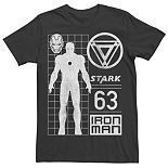 Men's Marvel Avengers Iron Man Stark Graphic Tee