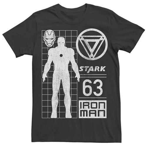 Men's Marvel Avengers Iron Man Stark Graphic Tee