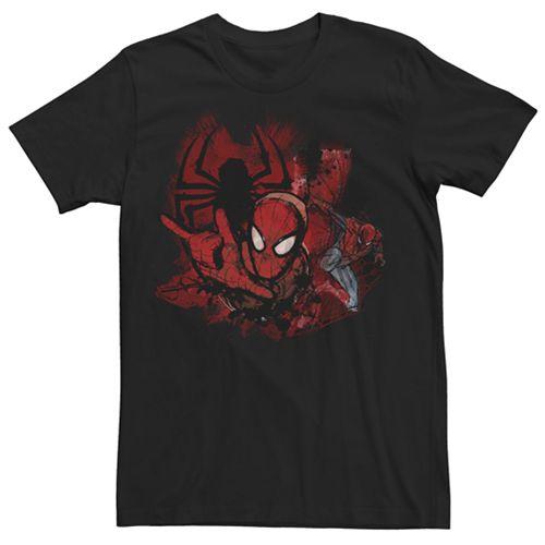 Men's Marvel Spider-Man Ink Splotches Graphic Tee