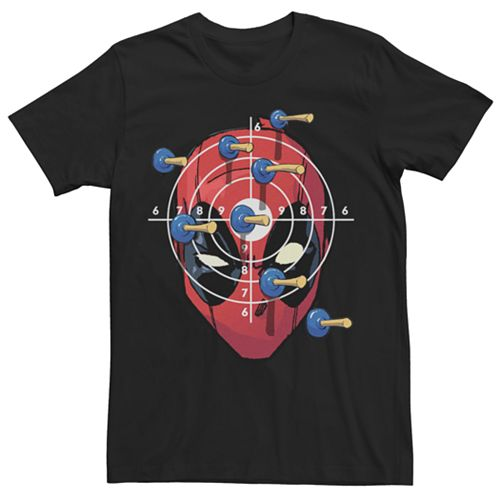 Men's Marvel Deadpool Target Practice Graphic Tee
