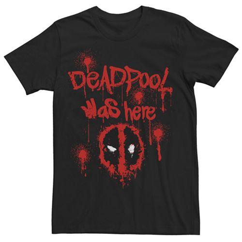 Men's Marvel Deadpool Was Here Graphic Tee