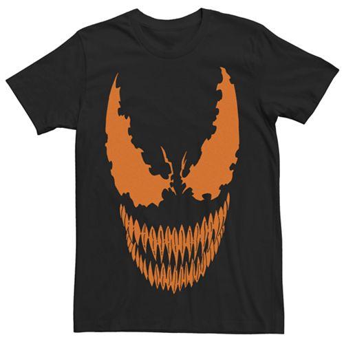 Men's Marvel Venom Pumpkin Face Graphic Tee